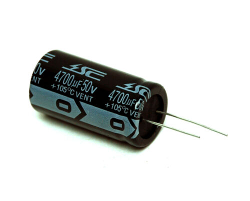 2pc Electrolytic Capacitor KM 4700uF 50V 105℃ 2000hrs φ22x42mm Radial RoHS SC
