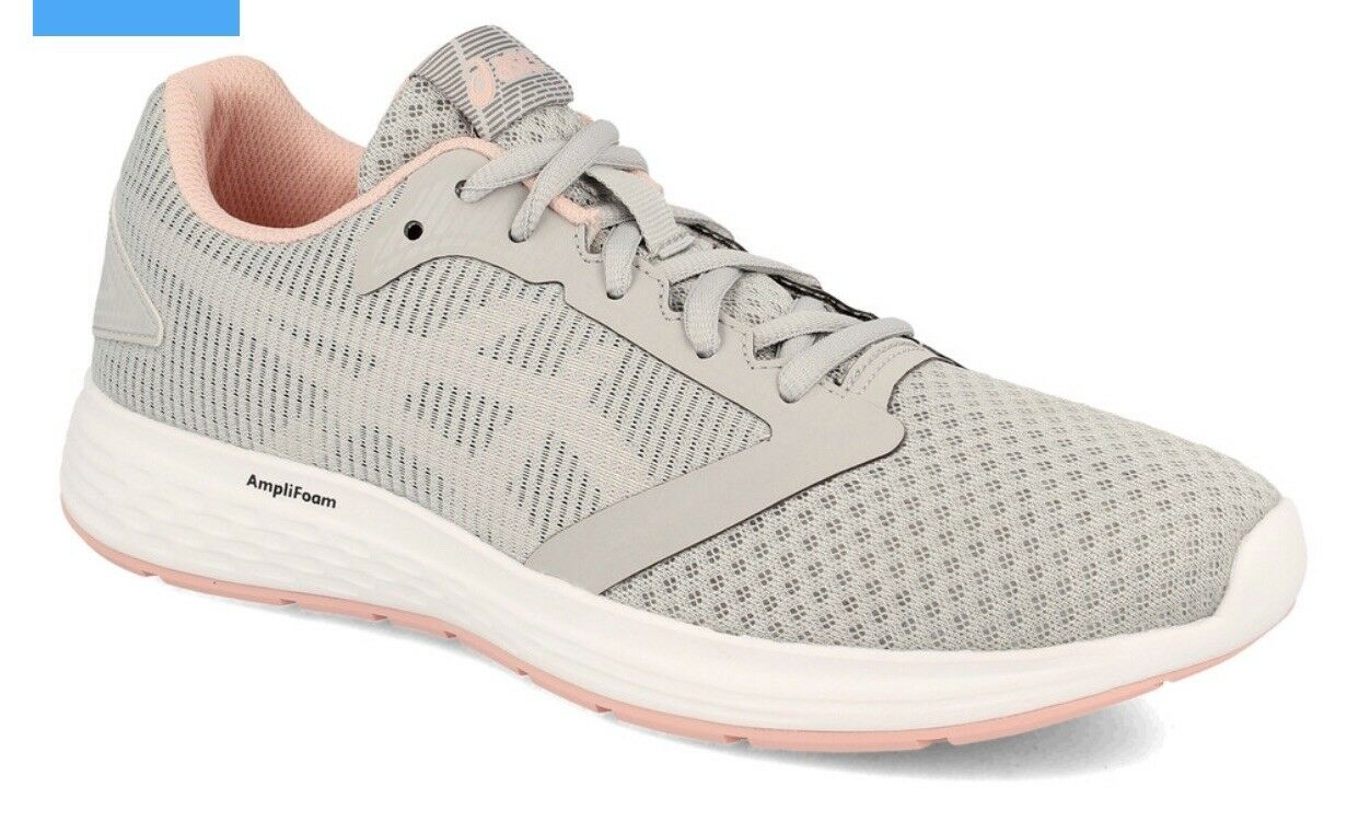 Asics Womens Mid Grey Frosted pink Patriot 10 Lace Up Running shoes Eu Size 38