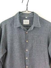 FRANK & OAK Menswear Shirt Sz M  Gray & Black Woven Cotton-Very Nice Condition