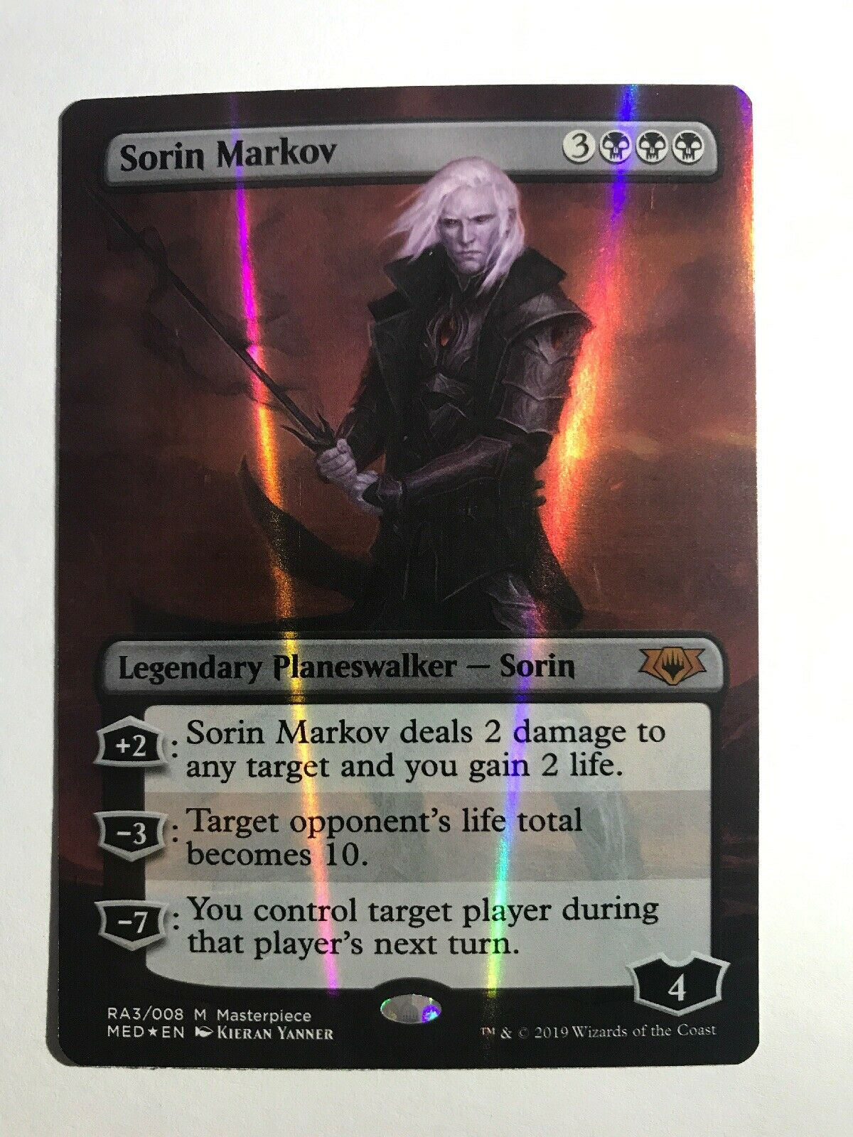 MTG FOIL Sorin Markov NM - Ravnica Allegiance Mythic Edition
