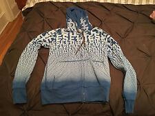 Diesel Mens Blue Hoodie Hooded Sweatshirt, Size Medium