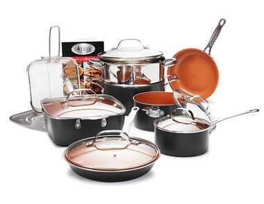 Gotham Steel Kitchen Nonstick Copper Mega 14 Piece Cookware Set