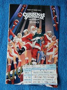 image is loading christmas spectacular 1990 radio city playbill w ticket - Radio City Christmas Show Tickets