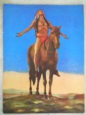 """Smaller 9X12 """"Appeal to the Great Spirit"""" Repo Print of Painting/Sculpture c1921"""