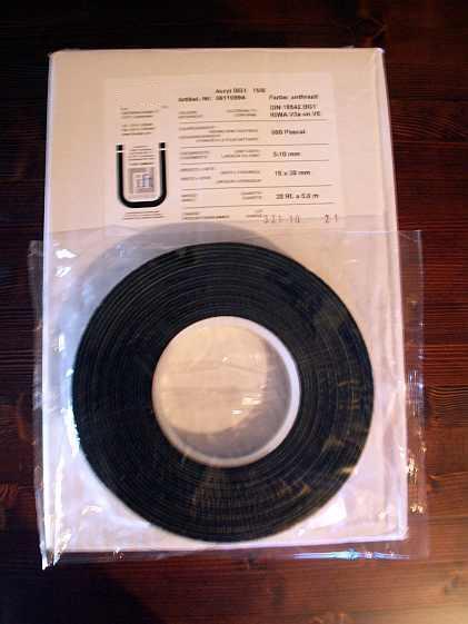 390 m Fugenband Quellband Fensterband 10/1-4 mm BG1