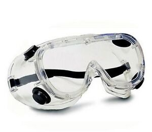 Bouton Clear Safety Goggles with Elastic Strap - 248-4401-300