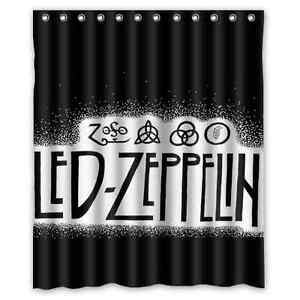 Image Is Loading Brand New Led Zeppelin Waterproof Shower Curtain 60