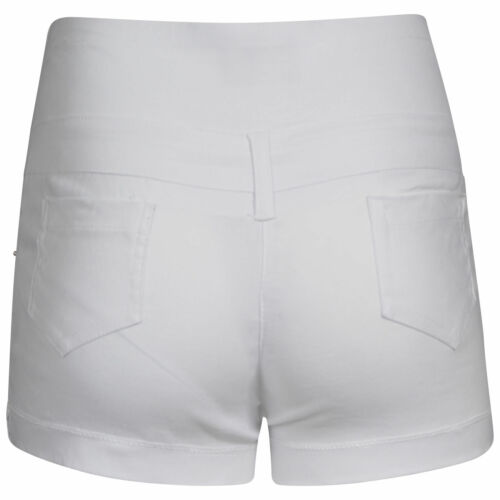 Womens Hotpants Ladies Miss Sexies High Waisted Short Hotpant Pants Black White