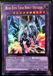 Blue-Eyes Twin Burst Dragon LCKC-EN058 1st Ultra Rare NM Yugioh Card
