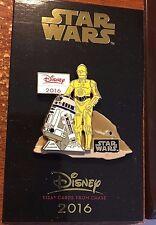 Chase Visa 2016 Pin STAR WARS C-3PO R2-D2 Disney Droids Exclusive LR