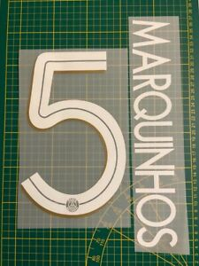 FLOCAGE MARQUINHOS #5 Paris 2020-2021 Third Nameset. Champions League