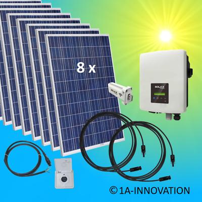 2000watt Solaranlage Komplettpaket 2 Kw Solar Anlage Eigenverbrauch Plug Ebay