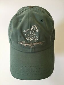 467185aeb63 Image is loading Clydesdales-Anheuser-Busch-Budweiser-Adjustable-Hat-Cap- Green-
