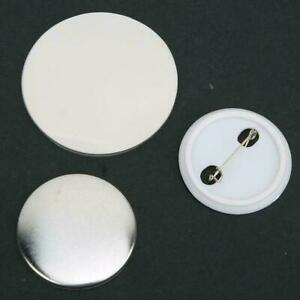 100PCS 37-75mm Blank Pin Button Parts Supplies for Badge DIY Making Machine