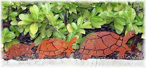 Rostfigur-Schildkroete-Hilde-Edelrost-Metall-Rost-Tier-Turtle-Garten-Set-Terrasse