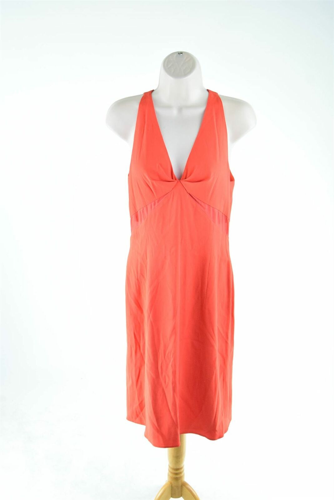 Valentino Roma Orange Sleeveless Dress, UK 8 US 6 EU 38