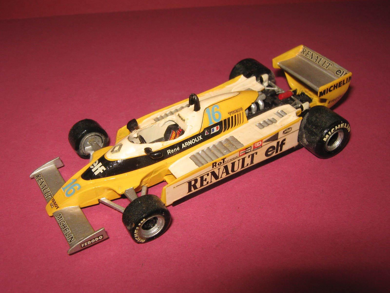 1 43 renault f1 rs20 R. Arnoux 1980 Handbuilt modelCoche Tenariv en Showcase
