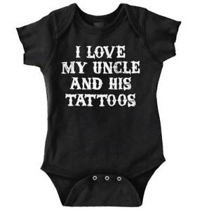 Grosses Soldes Love My Uncle Tattoos Funny Nephew Niece Newborn Romper Bodysuit For Babies ArôMe Parfumé