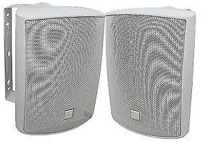 Dual-Electronics-LU53PW-5-1-4-034-3-Way-Indoor-Outdoor-Loudspeakers-White