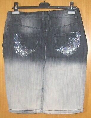 Women/'s Boot Cut Mid Rise Girovita Elasticizzato Pantaloni Jeans Blu Tg UK 6-14
