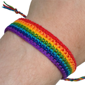Pride LGBTQ Lesbian Gay Bisexual Transgender Queer Rainbow Bracelet Wristband Stuff for Teen and Adult Friendship Accessories for Pride Parade Party Support Friends and Family