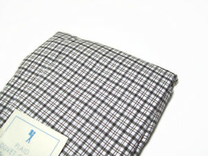 Pottery-Barn-Kids-Multi-Colors-Brown-Cotton-Plaid-Twin-Duvet-Cover-New