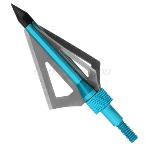 Arrow Head Set 6 Pcs Broadhead Tip With Screw 100 Grain Steel Aluminum Hunting