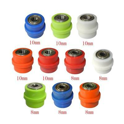 8mm//10mm Chain Roller Pulley Slider Tensioner Wheel Guide For Pit Dirt Mini