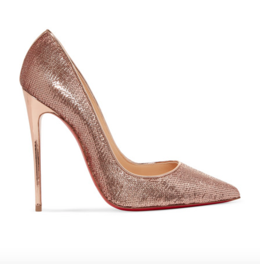 CHRISTIAN LOUBOUTIN SO KATE 120 Nude Gold Sequin Pump 36.5 6 6 36.5 6.5 Retail at  775 1d817c