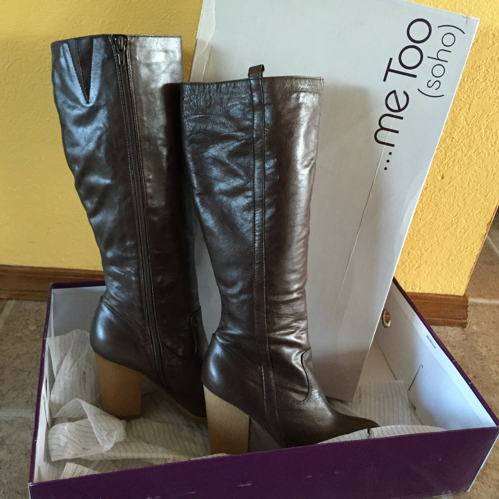 Me Too Womens Leather Boots Brown Size 6.5, 7, 8.5, 9.5 MSRP  150