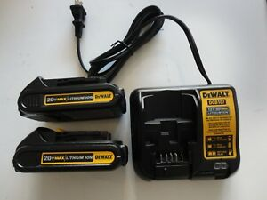 DEWALT-DCB207-2-20V-20-Volt-Li-Ion-Battery-packs-x2-DCB107-Charger-New-2019