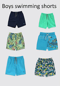 BOYS-SWIMMING-SHORTS-EX-M-S-DRAWSTRING-AGES-12-MONTHS-TILL-14-YEARS
