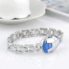 Men Women Stainless Steel Charm Iron Man Transformer Shape Chain Bracelet Bangle
