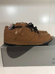 promo code 437be 025c9 ... denmark image is loading nike sb dunk low brown carhartt denim supreme  6e001 40b85