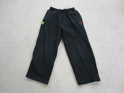 Puma Ferrari Pants Youth Small Black Red Sweat Pants Racing Racer Boys Kids Ebay