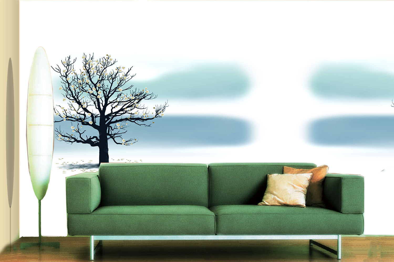 3DEin Schwarzer Junge bäume Fototapeten Wandbild Fototapete BildTapete FamilieDE