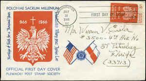 Image Is Loading US FDC 1313 M25 Plewacki Post Stamp Society