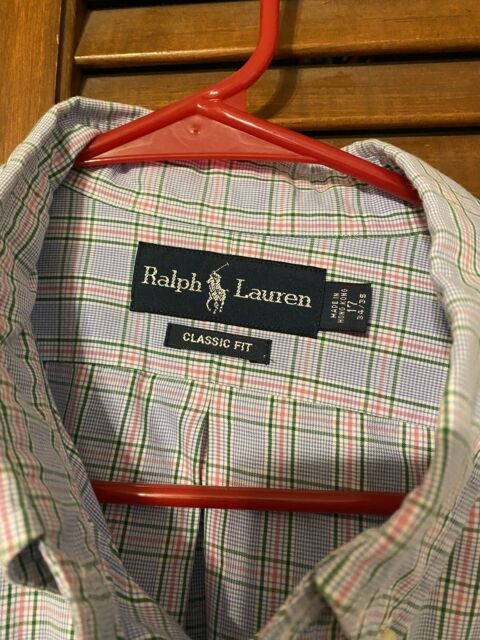 Men's Ralph Lauren Polo Button Down Dress Shirt Size 17. Classic Fit 34/35