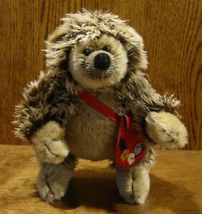 "DEB CANHAM ARTIST DESIGNS Bigger Bear, PRICKLES, 8"" LE Mohair Hedgehog"