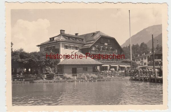 (f8159) Orig. Photo Königsee, Hôtels 1935