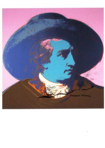 Kunstpostkarte 2 Johann Wolfgang von Goethe Andy Warhol