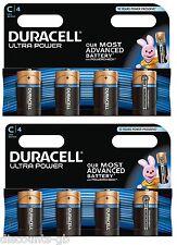 8 X Duracell 'C' Ultra Power Alkaline MX1400 1.5v LR14 C size batteries