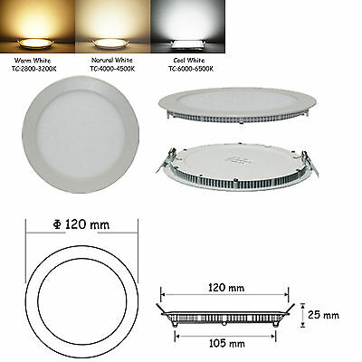 9W 12W 15W 18W 21W Bright CREE LED Recessed Ceiling Panel Down Light Bulb Lamp &