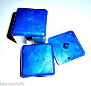 ITEM kompatible Endkappen 40 x 40 mm 50 Stück metallic blau