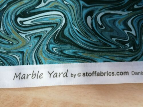Cotton Fabric Fat Quarter quilting Marble Yard green grey by Stoffabrics