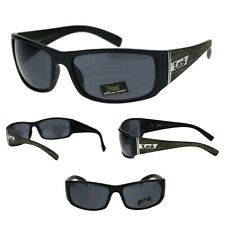 Mens Locs Wood Grain Arm Classic Cholo Shade Sunglasses