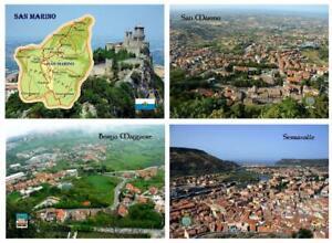 San Marino Country Map Borgo Maggiore Serravalle New Postcard