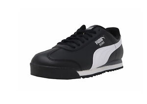 a45ccec8bf67 Puma Roma Basic Shoes Black White Leather Classic Women Sneakers ...