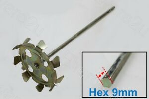 HEX SHANK 9MM PAINT MIXER PADDLE ATTACHMENT 420MM (59571B)