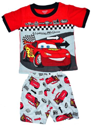NEW SZ 27 KIDS PYJAMAS SUMMER BOYS CARS PJS NIGHTIES SLEEPWEAR COTTON TEE